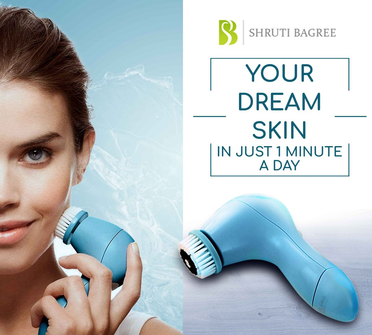 Get Flawless Skin in just 1 min a day with SkinPro Cleansing System
