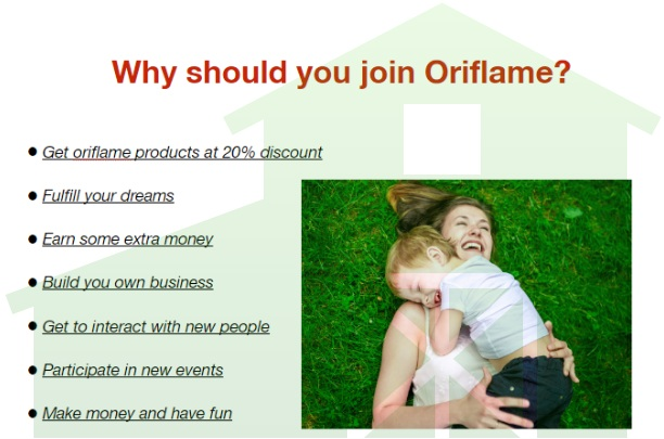 Why should you join Oriflame